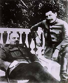 Lenin and Stalin. Stalin is now Secretary General
